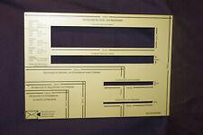 Formatschablone 5mm Holz dick Brief Schablone Lehre Briefe Post Briefschablone