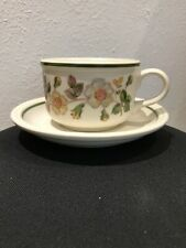M&S Autumn Leaves Breakfast Tea Cup & Saucer / shallow wide Teacup