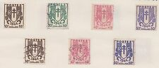 (FR35) 1946 France 15mix shields &Ceres 10c to2F.50c