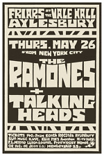 The Ramones & the Talking Heads  *LARGE POSTER*  Live PUNK ROCK Concert 1977
