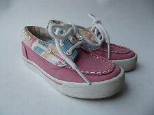 TOMMY HILFIGER Pink & Multi-Color Plaid Canvas Boat Deck SHOES Toddler Girls 7 M