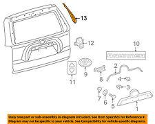 75816-35020 Toyota Moulding, back door outside, lh 7581635020, New Genuine OEM P
