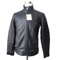 Calvin Klein Men Leather Jacket Size S Motorcycle Style Genuine Leather India