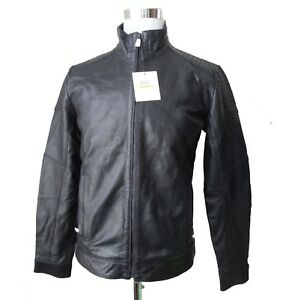 Calvin Klein Men Leather Jacket Size S Motorcycle Style Genuine Leather India