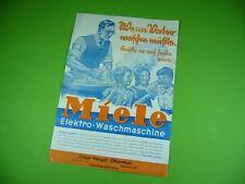 607K02 Miele 30er Jahre Prospekt (1936): Elektro - Waschmaschine, Wäschemängel