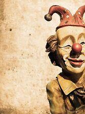 VECCHIO Vintage clown modello BAMBOLA CIRCO PHOTO art print poster foto bmp2395a