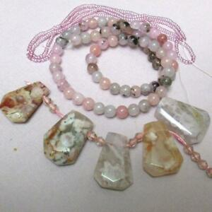 Natural Agate Freeform Pendant Dragon veins Gemstone Necklace Faceted agate pendant 5 colors Nugget Pendant