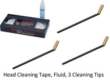 VHS VCR Head Cleaner Kit Video Cassette Tape & Cleaning Fluid