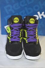 New Reebok Twilight Zone The Pump Black/Green/Purple Retro 80's Neon sz 11