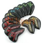 12pcs Black Golf Iron Head Covers For Cleveland Mizuno Callaway Taylormade Ping