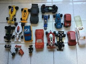 Job Lot Scalextric vintage cars plus parts for spares/ repairs