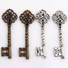 Lot  20x Tibetan Silver Bronze Key Charms Pendants Jewelry Making Findings 68mm