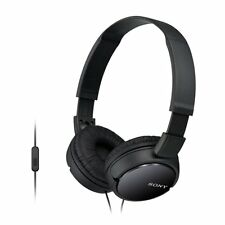 NEW Sony MDRZX110AP ZX Series Extra Bass Smartphone Headset with Mic (Black)