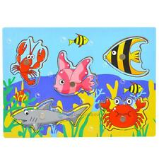 Kids Baby Magnetic Fishing Game + 3D Jigsaw Puzzle Board Wooden Educational Toys