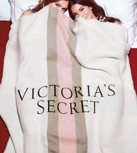 Victoria's Secret beautiful limited edition blanket fringe pink stripe $59 ret.