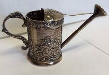 Antique Karl Kurz Solid Silver Miniature Novelty Watering Can Pseudo Hanau 1903
