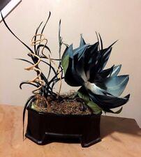Vtg 40's ART DECO Japanese Floral Arrangement Inarco Vase Magnolia Silk Flower