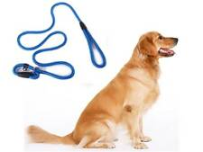 Dog Leash Whisperer Cesar Millan Style Slip Training Nylon Lead Collar Rope blue
