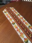 Handcrafted- Quilted Table Runner - You Finish - Includes BINDING -Autumn Leaves