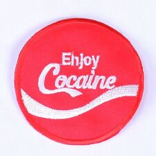 embroidered iron on sew on applique cocaine patches badges transfers for clothes