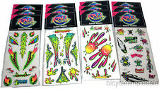 Rad Decal Graffiti BMX Stickers / Old School Bicycle Decal Stickers 12 Packs NEW