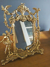 Miroir psyché  Bronze doré  Fin XIXème siècle