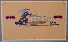 HOVER ATTACK BATMAN TOY PRODUCTION ART PROOF SIGNED BRUCE TIMM AUTOGRAPH COA