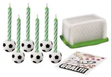 Wilton SOCCER BALL CANDLE SET - 14 PC.