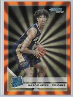 2019-20 Donruss Jaxson Hayes Orange Laser Rated Rookie SP No. 207