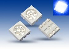 S928 - 100 Unidades SMD LED PLCC-6 5050 azul 3 chips LED azul