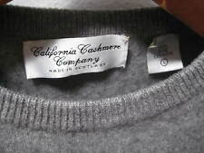 CALIFORNIA CASHMERE COMPANY HEATHER GREY CREW-NECK LONG SLEEVE SWEATER LADIES L