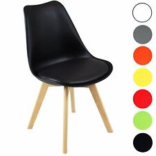 2 X Charles Jacobs Modern Tulip Style Chairs With Solid Beech Legs - Choice of C