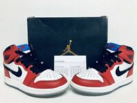Spider Man Nike Air Jordan 1 Retro High OG 'Origin Story' PS 12C 100% Authentic