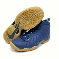 Nike Little Posite One GS Foamposite Midnight Navy Gum Brown All Size 644791-405