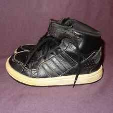 Adidas Shoes Toddler Baby Size 9K 9 Black White Laces Hook Loop Boys