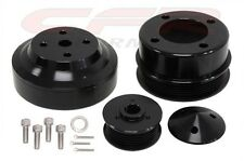 1979-93 FORD MUSTANG 5.0 BILLET ALUMINUM SERPENTINE PULLEY SET - BLACK
