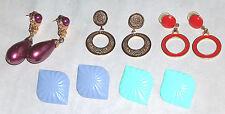 5 Par Lote Metal Color Dorado Rojo Violeta Verde pin Back Fashion Jewelry