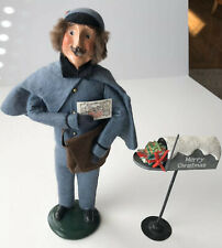 "Byers Choice Caroler, Vintage ""The Postman"", 1990 Byers Choice ""Mailbox"" Signed"