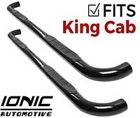 """Ionic 3"""" Black (fits) 2005-2017 Nissan Frontier King Cab Nerf Bars Side Steps"""