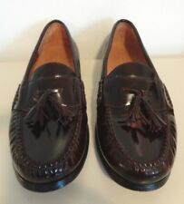 Club Room Charter Club Macy's Burgundy Red Leather Dress Shoes Loafers 8.5 D