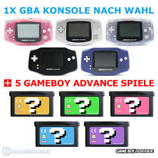 GameBoy Advance / GBA Console (Colour By Choice) + 5 Nintendo GB Games