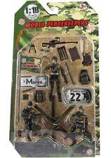 Fuerzas de paz mundial - 3 Figuras Con Accesorios-Marine-Totalmente Nuevo