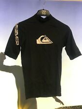 Quiksilver SURE Men's Rash Vest, Short Sleeve XS, S, M Black/White F092MS SALE