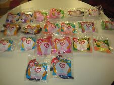 McDonald's Happy Meal 1996 Ty Teenie Beanie Babies 2 Complete Sets of 10