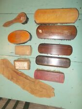 Vtg Lot Shoe Auto Furniture Clothes Brush Advertising Horsehair Lewiston Pa.
