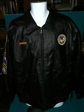 "Ohio & Virginia : US ARMY ""Boot Camp"" LEATHER JACKET size L @  911 Hunting PATCH"