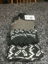 Womens Igloo Winter Hat/Scarf/Glove Set. Gray/White. 3 Pc. Set. NWT