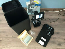 Bresser Mikroskop, LCD, im Koffer, mit 25 fertigen Trägern, Top-Zustand