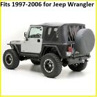 Smittybilt Black Replacement Soft Top Rear Tinted Windows For Jeep Wrangler Tj