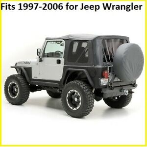 Smittybilt Black replacement Soft Top & Rear Tinted Windows FOR Jeep Wrangler TJ